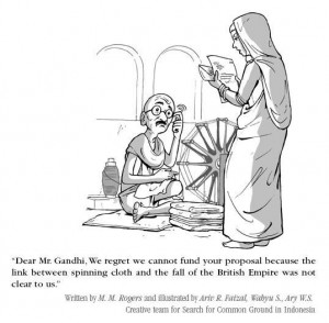 Gandhi-v-logframe-cartoon2-300x294