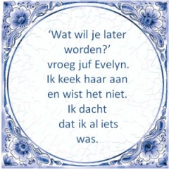 Wat wil je later worden - Evelyn